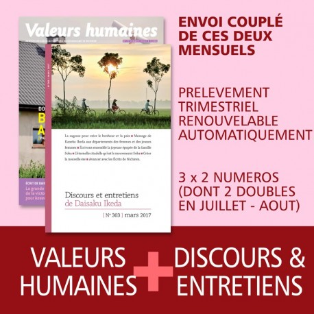 Valeurs humaines + Discours et entretiens