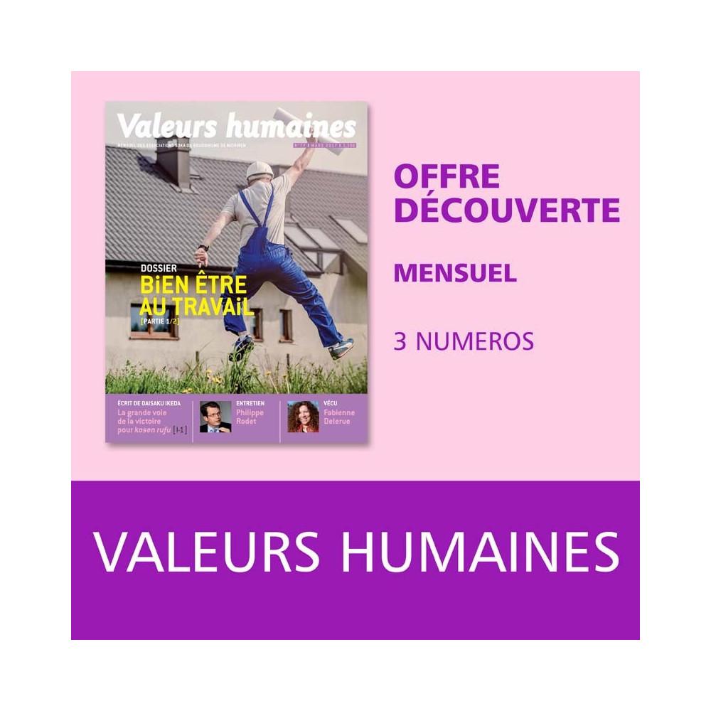 Valeurs humaines - Offre découverte - 3 numéros